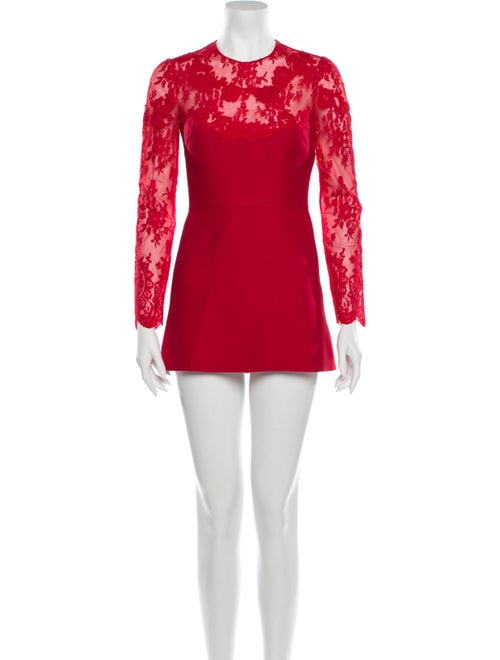 Valentino Virgin Wool Mini Dress Wool