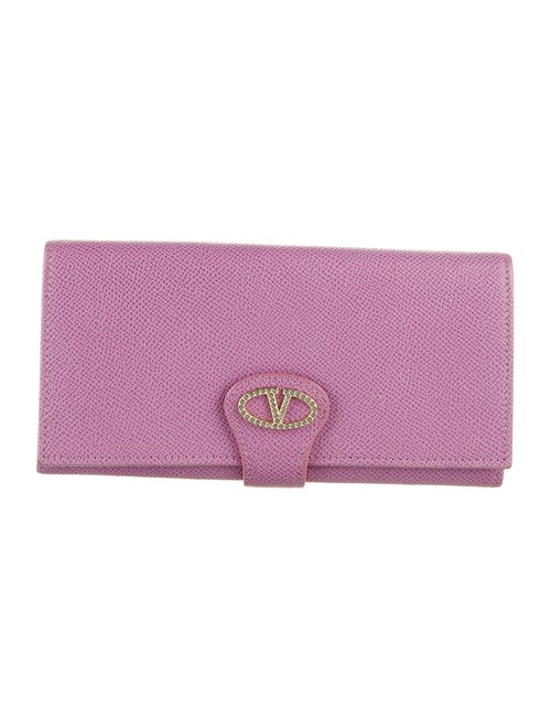 Valentino Leather Continental Wallet gold