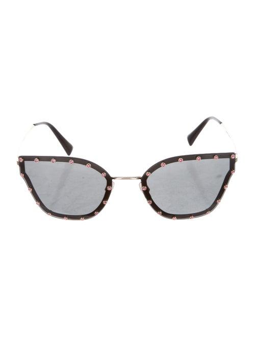 Valentino Strass Cat-Eye Sunglasses Gold