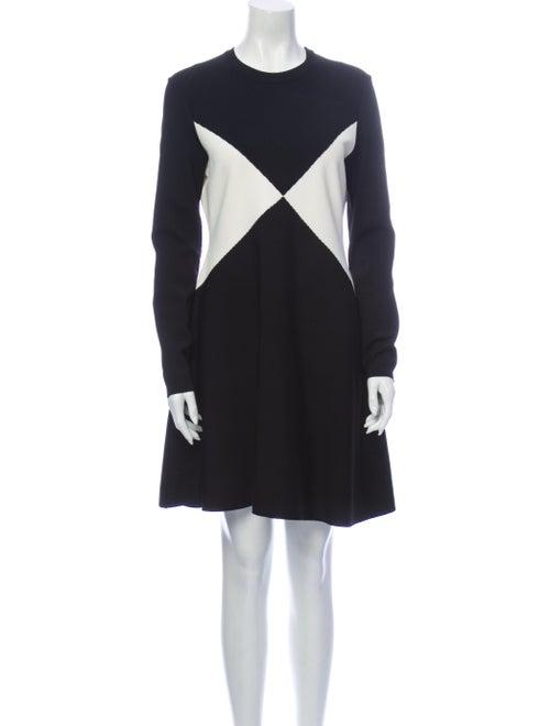 Valentino Colorblock Pattern Mini Dress Black