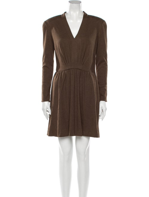 Valentino Vintage Mini Dress Brown