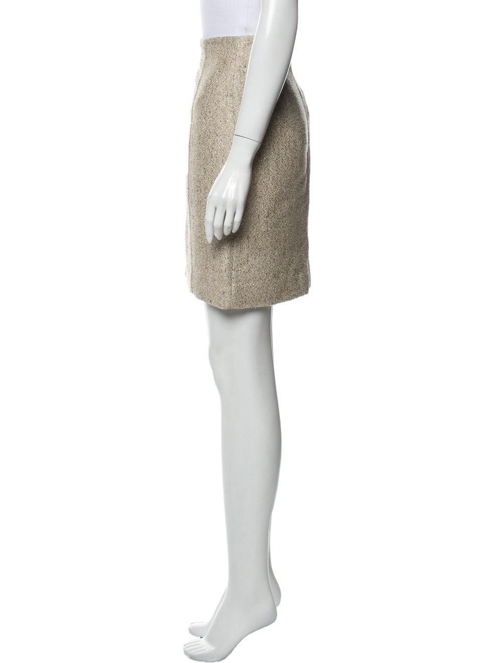 Valentino Mini Skirt Metallic - image 2