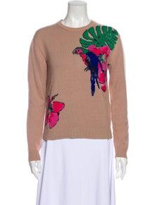 Valentino Cashmere Graphic Print Sweater