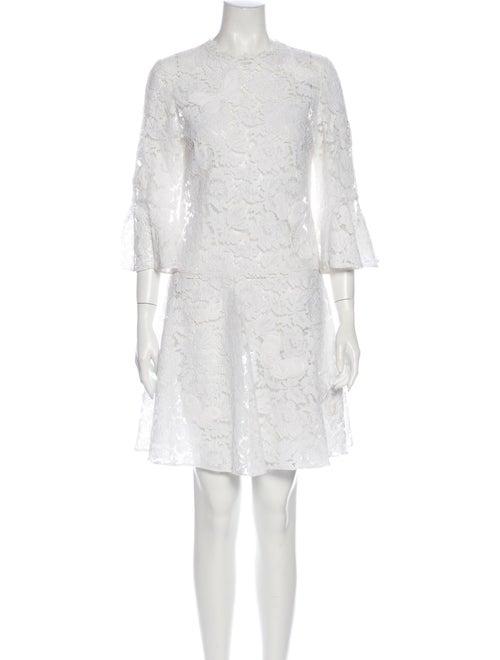 Valentino Lace Pattern Mini Dress White