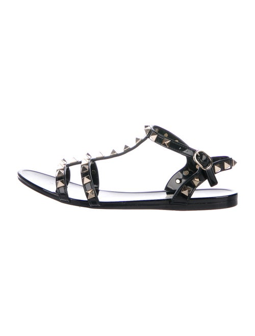 Valentino Rockstud Gladiator Sandals Black