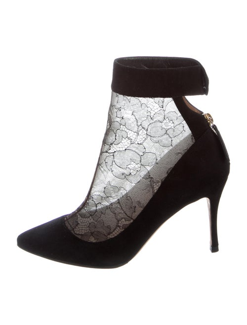 Valentino Lace Pattern Boots Black