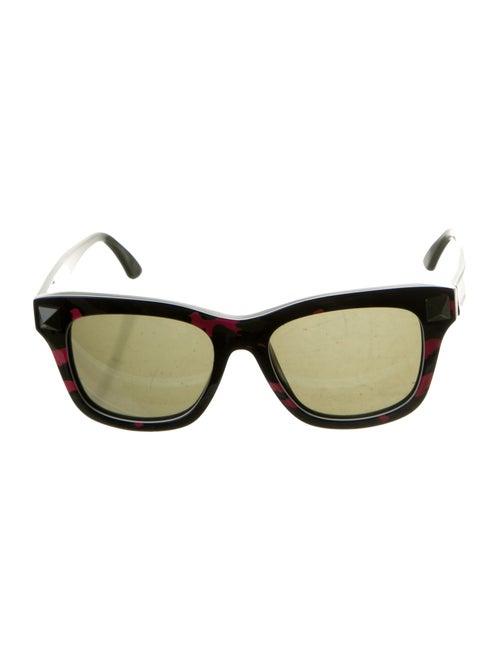 Valentino Camouflage Rockstud Sunglasses Green