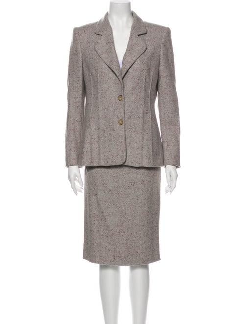 Valentino Vintage Wool Skirt Suit Wool