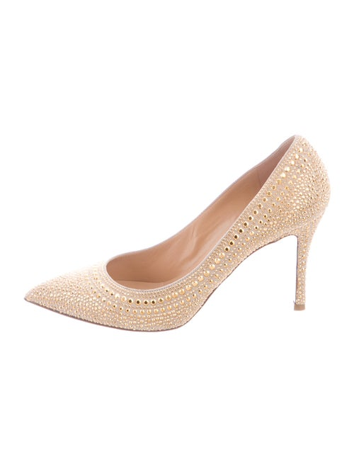 Valentino Suede Studded Accents Pumps