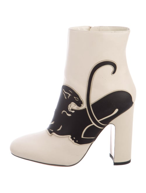 Valentino Leather Printed Boots