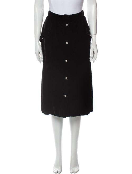 Valentino Vintage Knee-Length Skirt Black