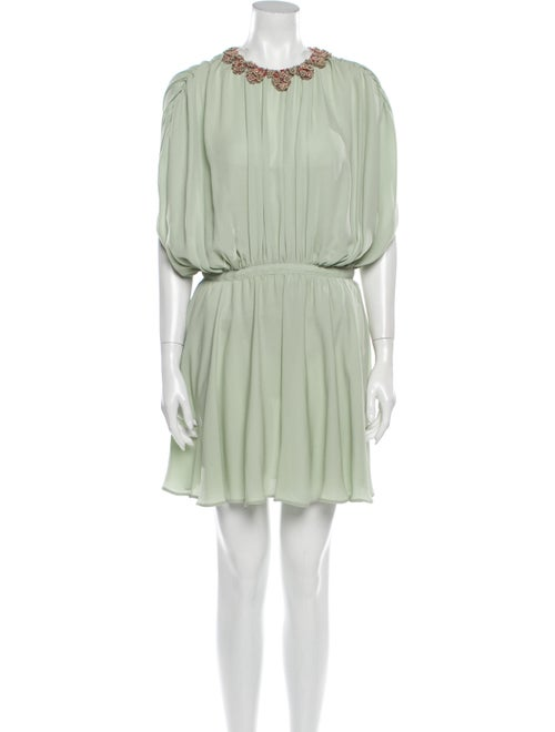 Valentino Silk Mini Dress w/ Tags Green