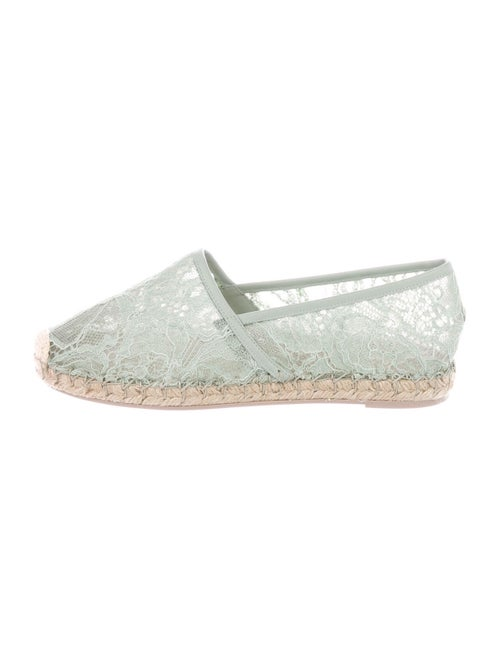 Valentino Lace Pattern Espadrilles w/ Tags Green