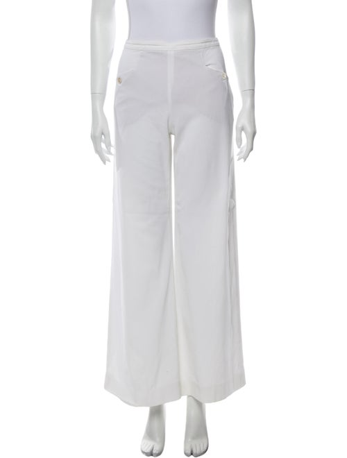Valentino Vintage Wide Leg Pants White