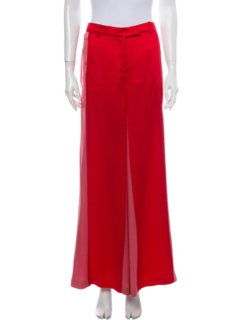 Valentino Wide Leg Pants Red