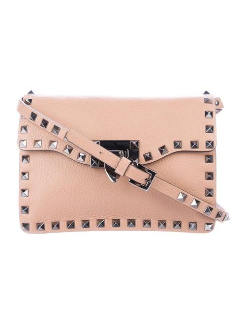 Valentino Leather Rockstud Crossbody Bag Brown