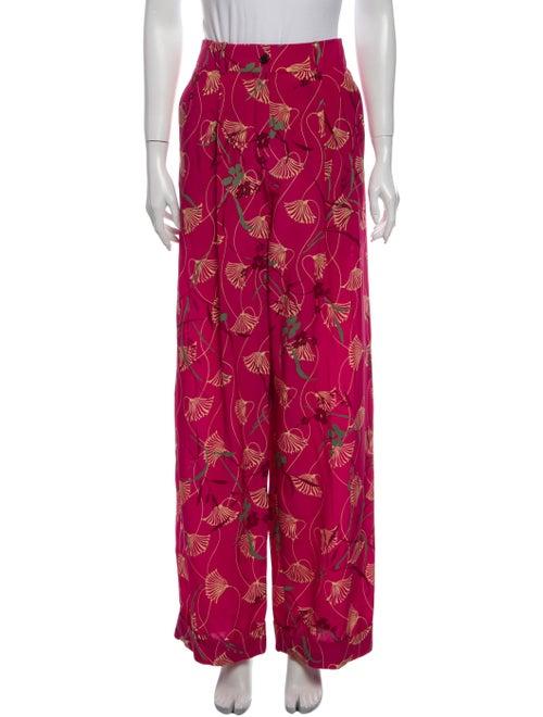 Valentino Silk Wide Leg Pants w/ Tags Pink