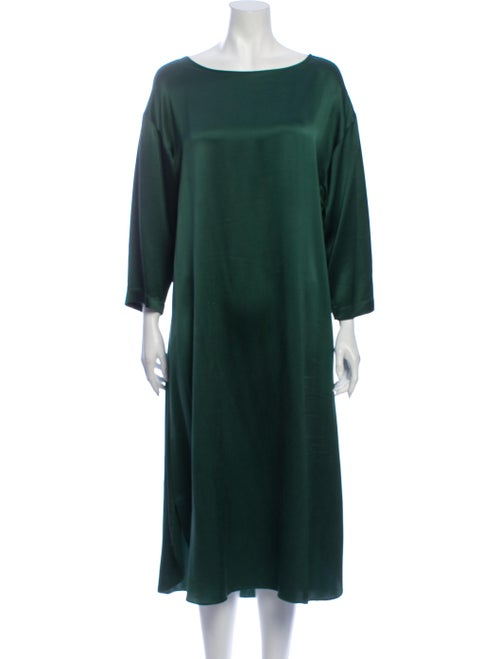 Valentino Silk Midi Length Dress Green