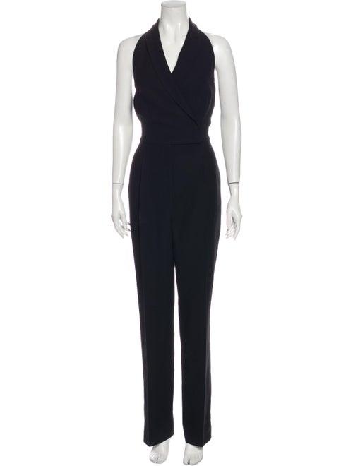 Valentino Silk Halterneck Jumpsuit Black