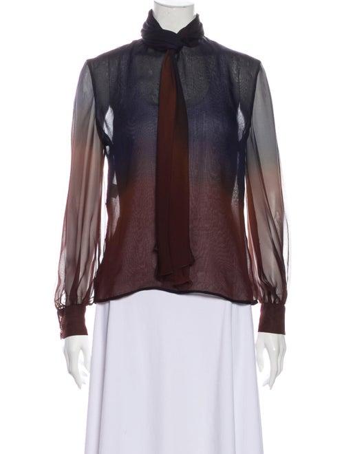 Valentino Vintage Silk Blouse Brown