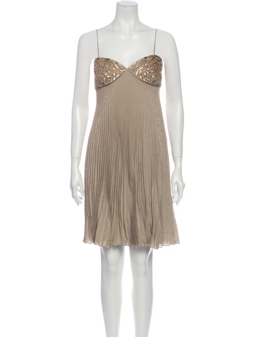 Valentino Vintage Mini Dress Metallic