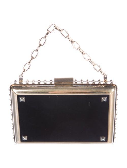 Valentino Rockstud Box Clutch Black