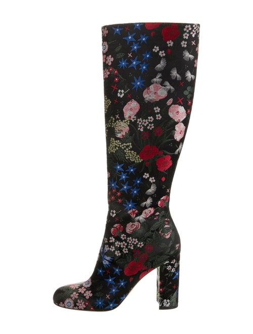 Valentino Printed Boots Black