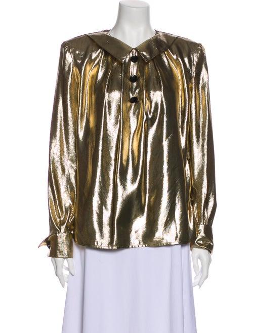 Valentino Vintage Silk Blouse Gold
