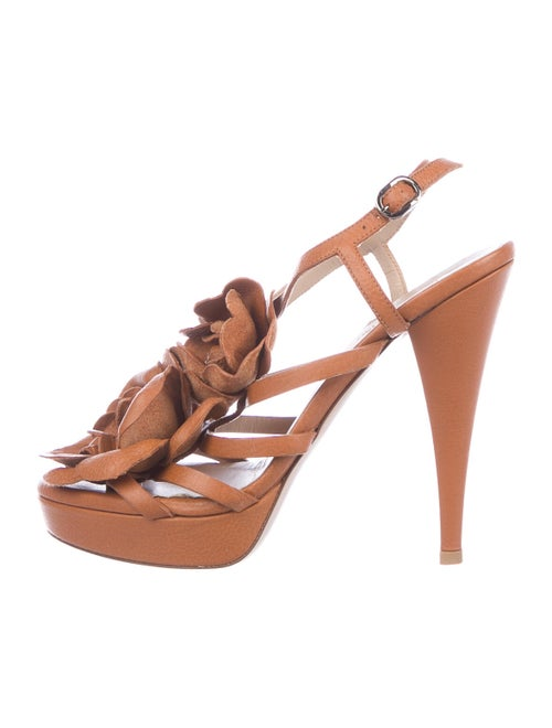 Valentino Leather Slingback Sandals