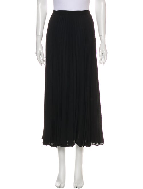 Valentino Silk Midi Length Skirt Black