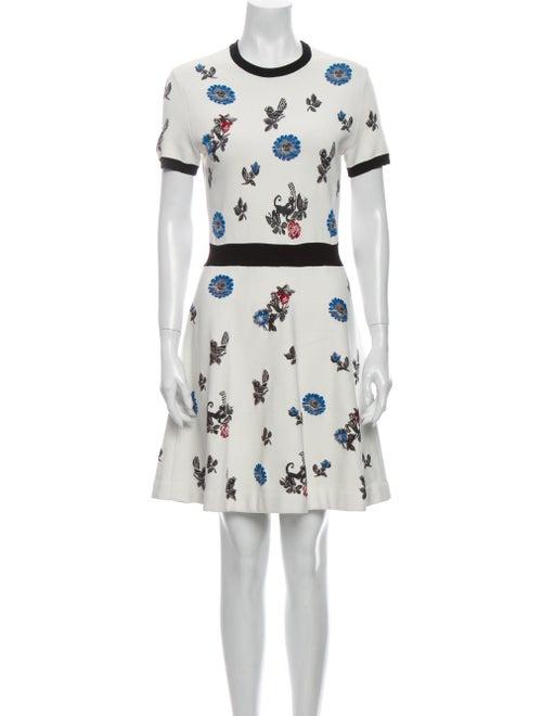 Valentino Printed Mini Dress White