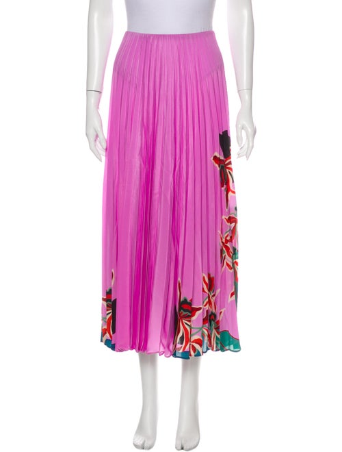 Valentino Silk Midi Length Skirt w/ Tags Pink