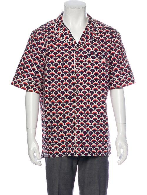 Valentino Colorblock Pattern Short Sleeve Shirt Bl