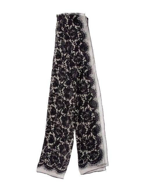 Valentino Printed Silk Scarf Black