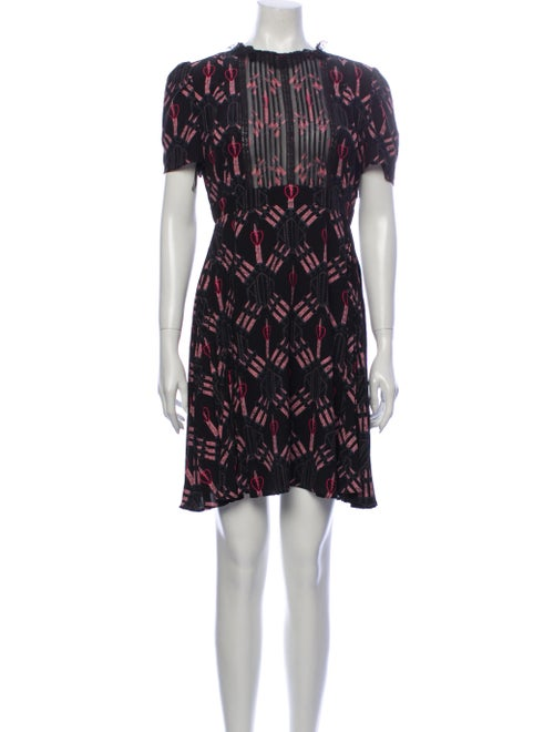 Valentino Printed Mini Dress Black