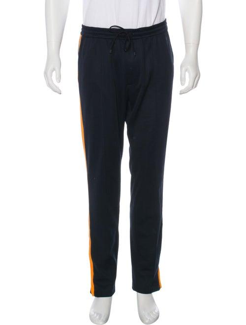 Valentino Flat Front Track Pants orange