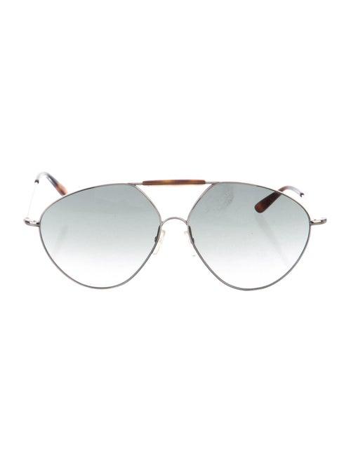 Valentino Tinted Aviator Sunglasses Silver