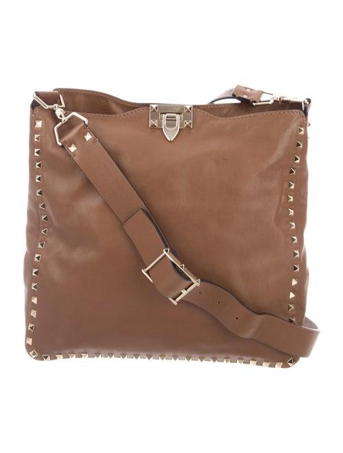Valentino Rockstud Messenger Bag Brown