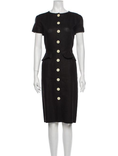Valentino Vintage Midi Length Dress Black