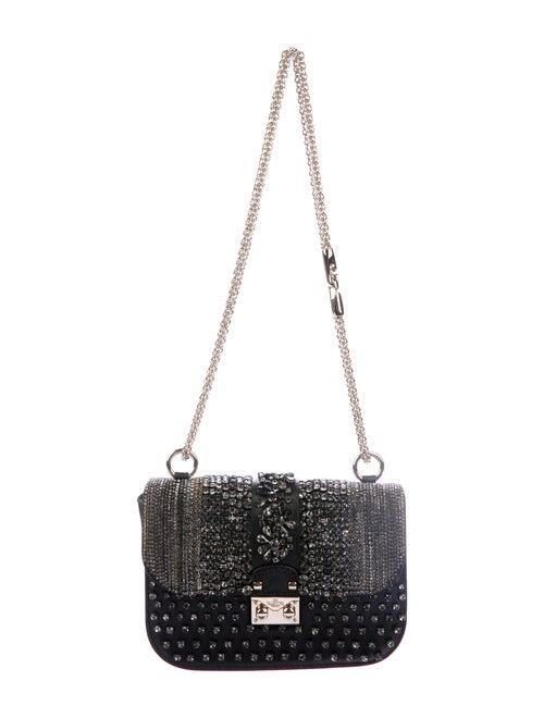 Valentino Crystal-Embellished Glam Rock Bag Black