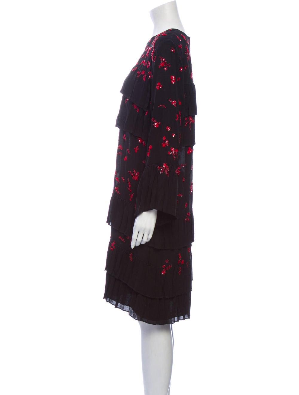 Valentino Silk Midi Length Dress Black - image 2
