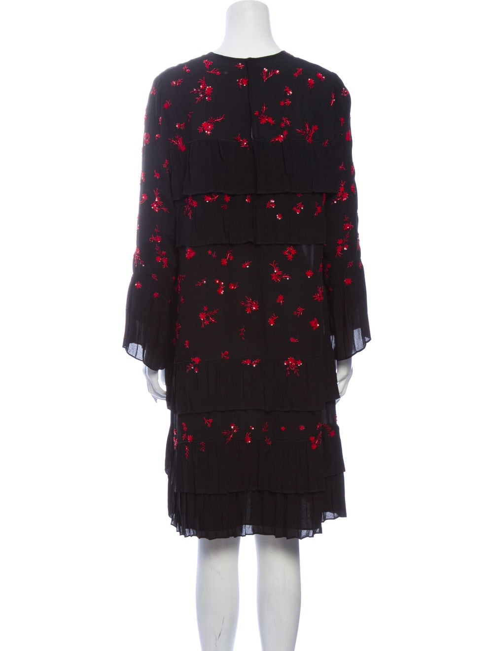 Valentino Silk Midi Length Dress Black - image 3