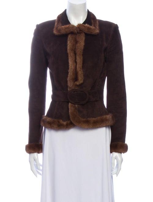 Valentino Fur Jacket Brown