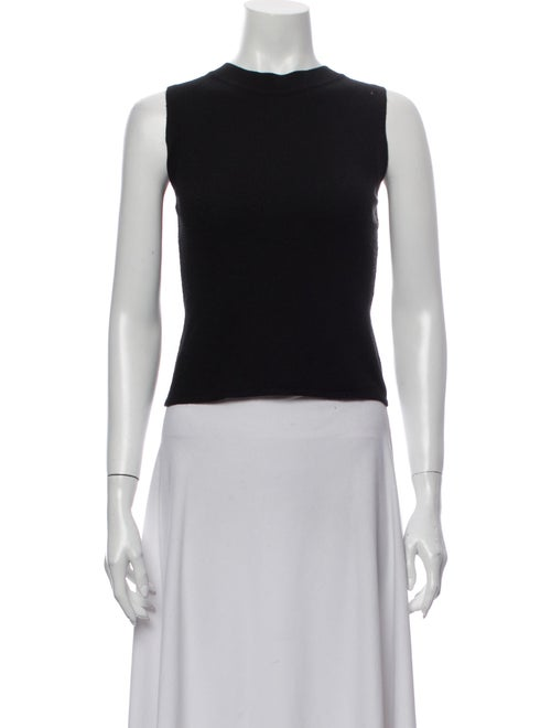 Valentino Crew Neck Sleeveless Top Black - image 1