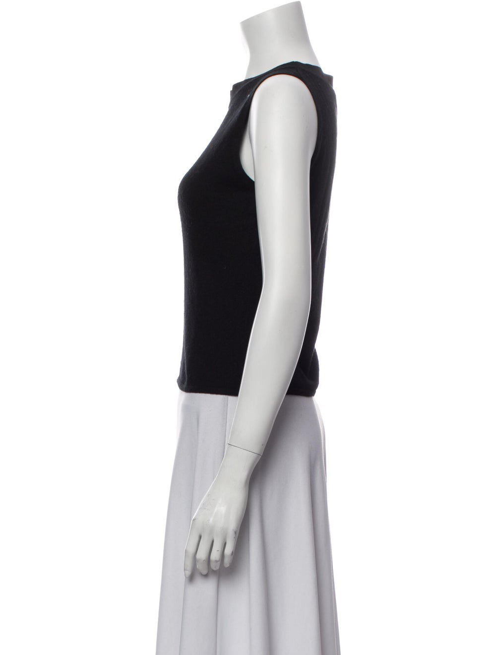 Valentino Crew Neck Sleeveless Top Black - image 2