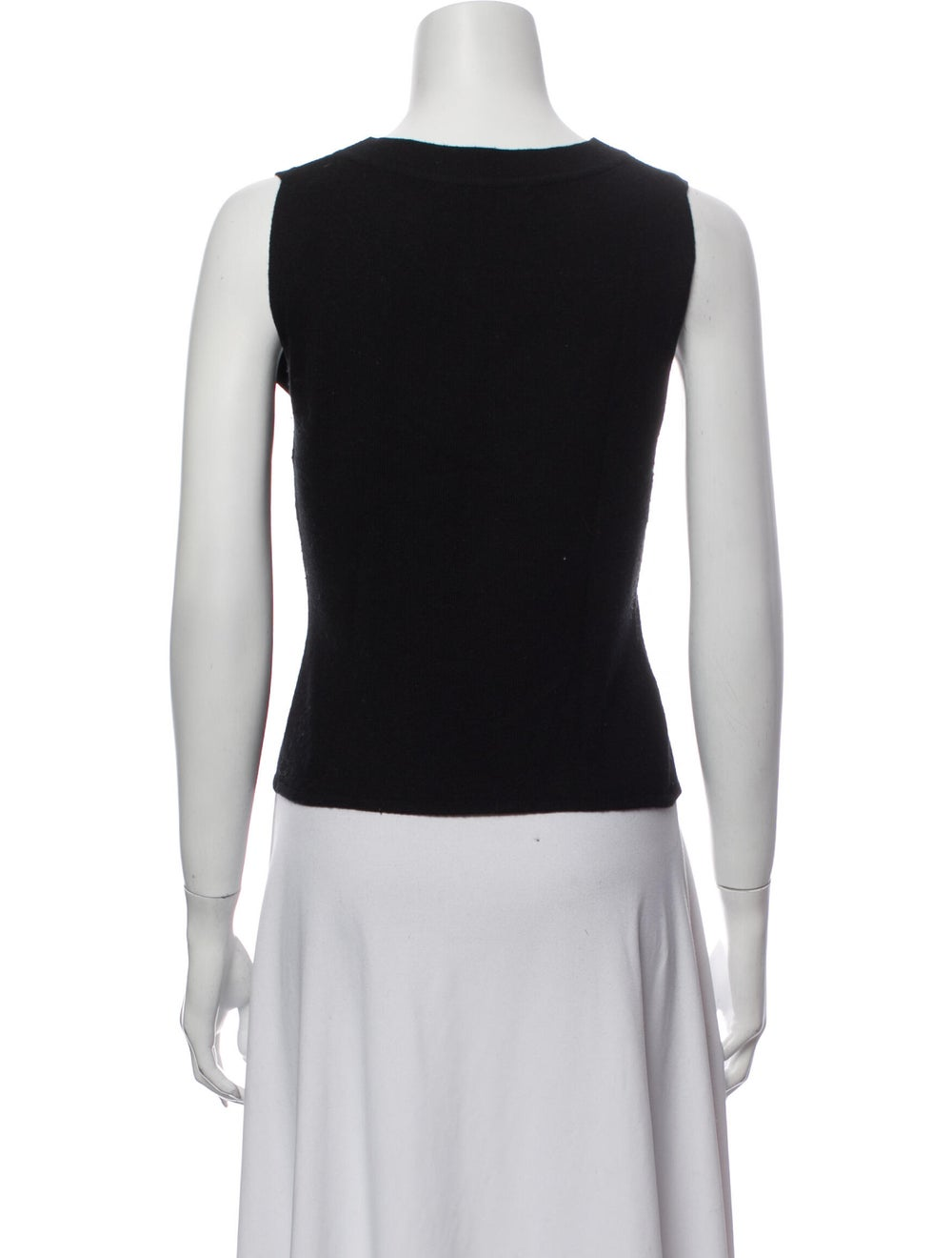 Valentino Crew Neck Sleeveless Top Black - image 3
