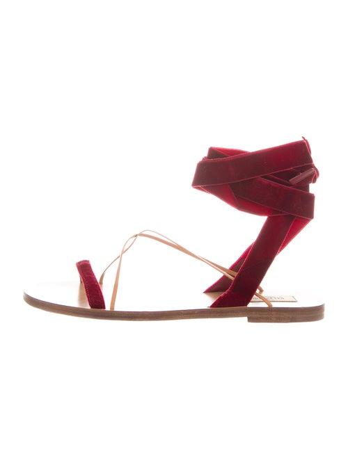 Valentino Gladiator Sandals Red