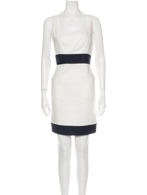 Valentino Linen Mini Dress White