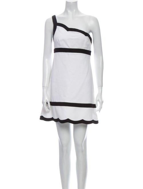 Valentino One-Shoulder Mini Dress White