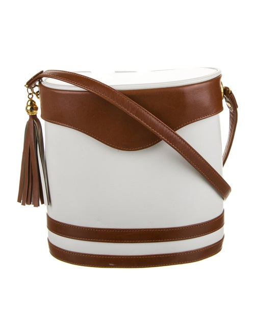 Valentino Vintage Leather Bucket Bag Gold